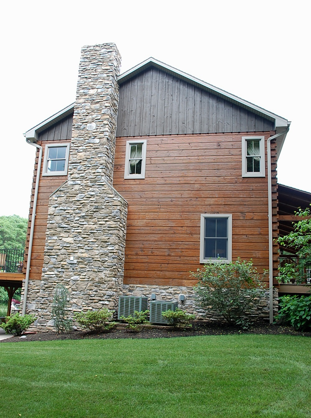 Clear Spring cedar and stone home built by Mt. Tabor Builders