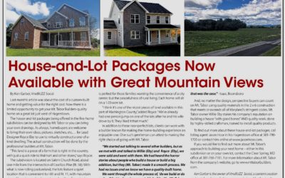 House and Lot Packages West of Hagerstown