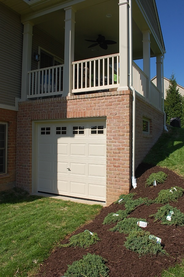 Porch and storage area on a Hagerstown, MD home built by Mt. Tabor Builders, Inc. of Clear Spring, MD