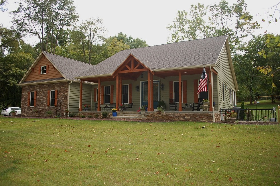 Custom Timber Frame home in Sharpsburg, MD built by Mt. Tabor Builders, Inc. of Clear Spring, MD
