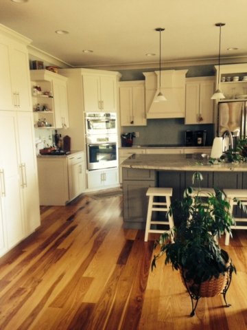 Kitchen in Timber frame in Smithsburg, MD built by Mt. Tabor Builders