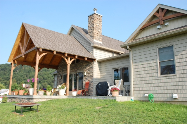 Timber frame in Smithsburg, MD built by Mt. Tabor Builders