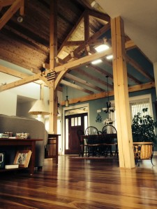 Living Room of Timber Frame home in Smithsburg, MD