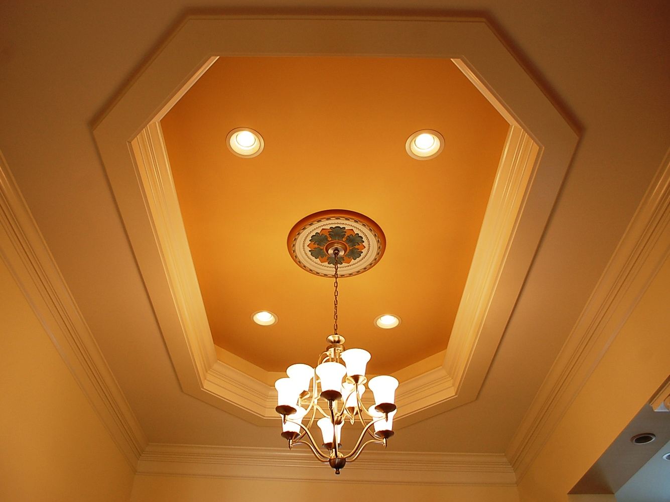 Tray ceiling in Martinsburg, WV custom home by Mt. Tabor Builders