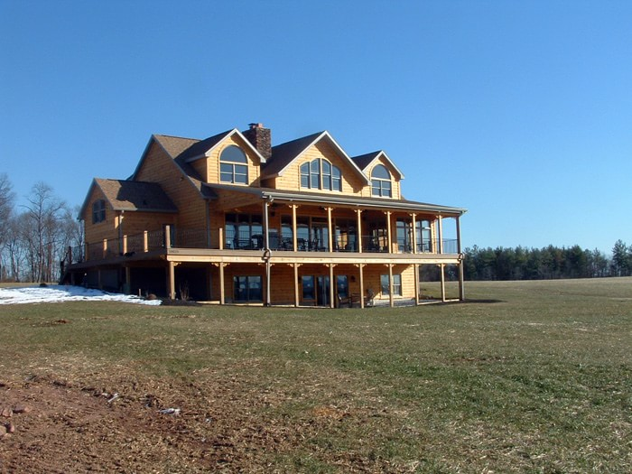 Mountain home built by Mt. Tabor Builders