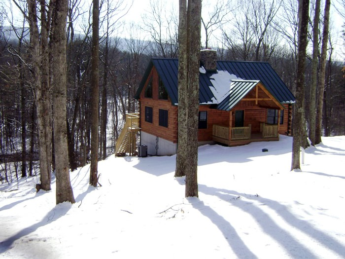 Log home built by Mt. Tabor Builders in Clear Spring, MD