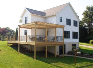 Home and deck built by Mt. Tabor Builders in Hagerstown, MD