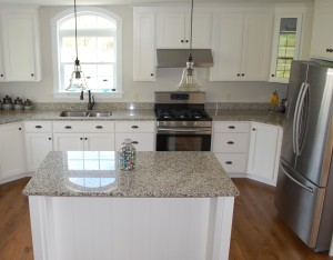 Custom Kitchen with shaker cabinets and granite by Mt. Tabor Builders, Inc.