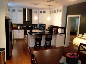 Custom kitchen by Mt. Tabor Builders in new home in Sharpsburg