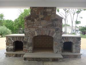 Custom-built-stone-fireplace