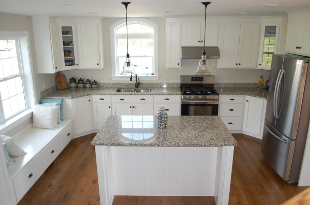 Custom kitchen with shaker cabinets