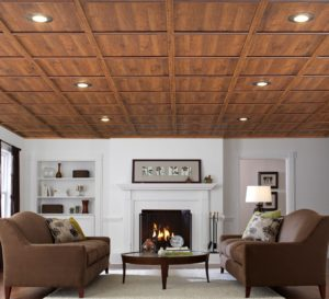 Ceiling renovation picture for Mt. Tabor Builders website