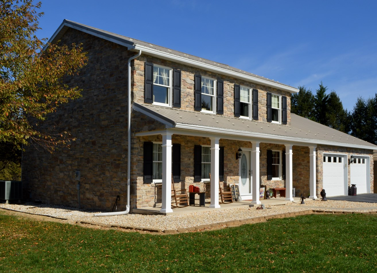 Exterior renovation of clear spring md home mt tabor for Maryland home builders