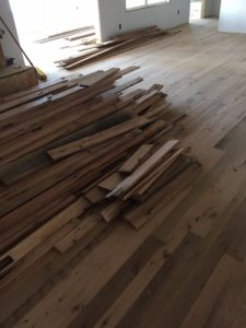 Reclaimed wood for floors in aging-in-place home in Clear Spring, MD