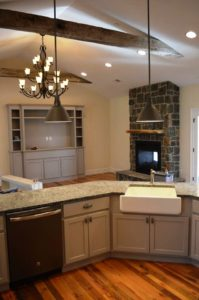 Clear Spring, MD custom home built by Mt. Tabor Builders with reclaimed wood