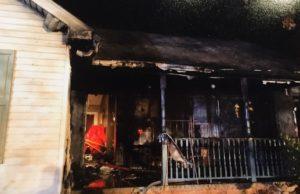 Burned house in Falling Waters, WV