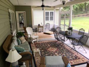 Sharpsburg, MD Timber Frame House screen porch
