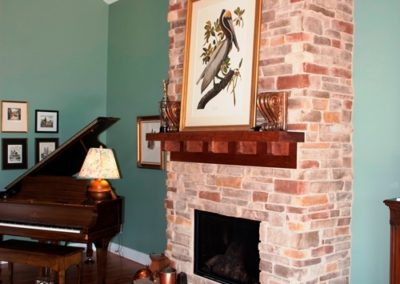Craftsman-style home in Boonsboro stone fireplace