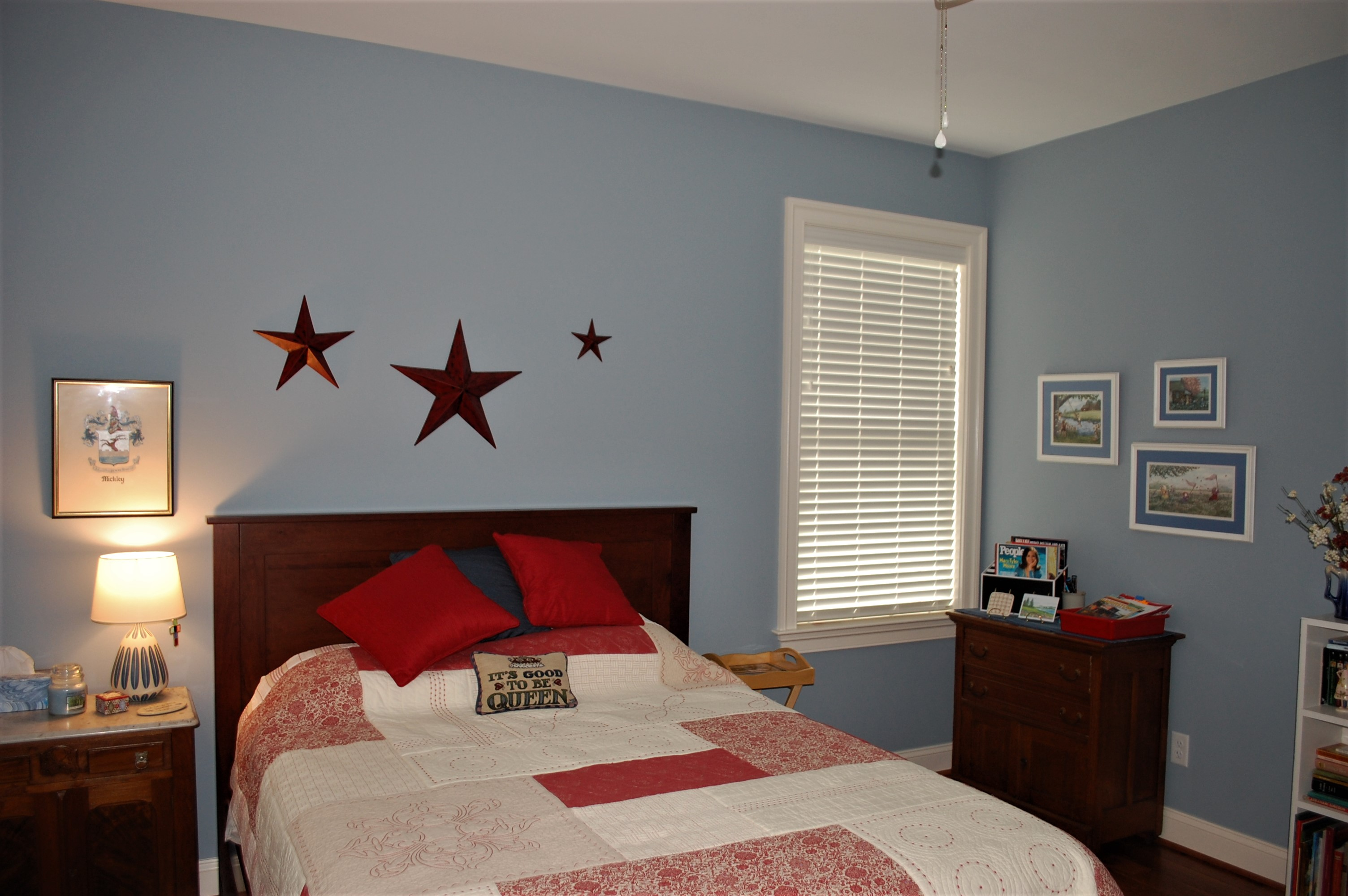 Williamsport, MD Cape Cod Bedroom in custom home built by Mt. Tabor Builders