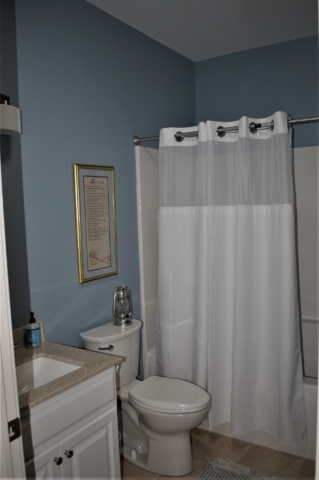 Williamsport, MD Cape Cod bathroom in custom home built by Mt. Tabor Builders of Clear Spring, MD