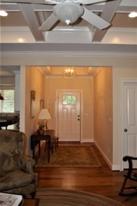Williamsport, MD Cape Cod foyer in custom home built by Mt. Tabor Builders of Clear Spring, MD