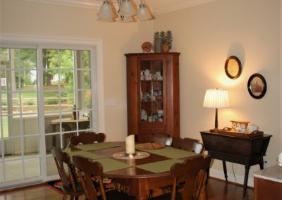 Williamsport, MD Cape Cod dining room in custom home built by Mt. Tabor Builders