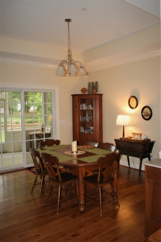 Williamsport, MD Cape Cod dining room in custom home built by Mt. Tabor Builders of Clear Spring, MD