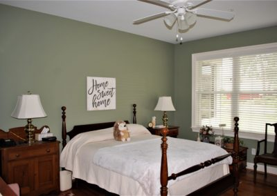 Williamsport, MD Cape Cod master bedroom suite in custom home built by Mt. Tabor Builders