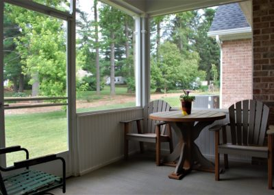 Williamsport, MD Cape Cod screened-in porch in custom home built by Mt. Tabor Builders