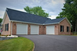 Williamsport, MD Cape Cod three-car garage in custom home built by Mt. Tabor Builders of Clear Spring, MD