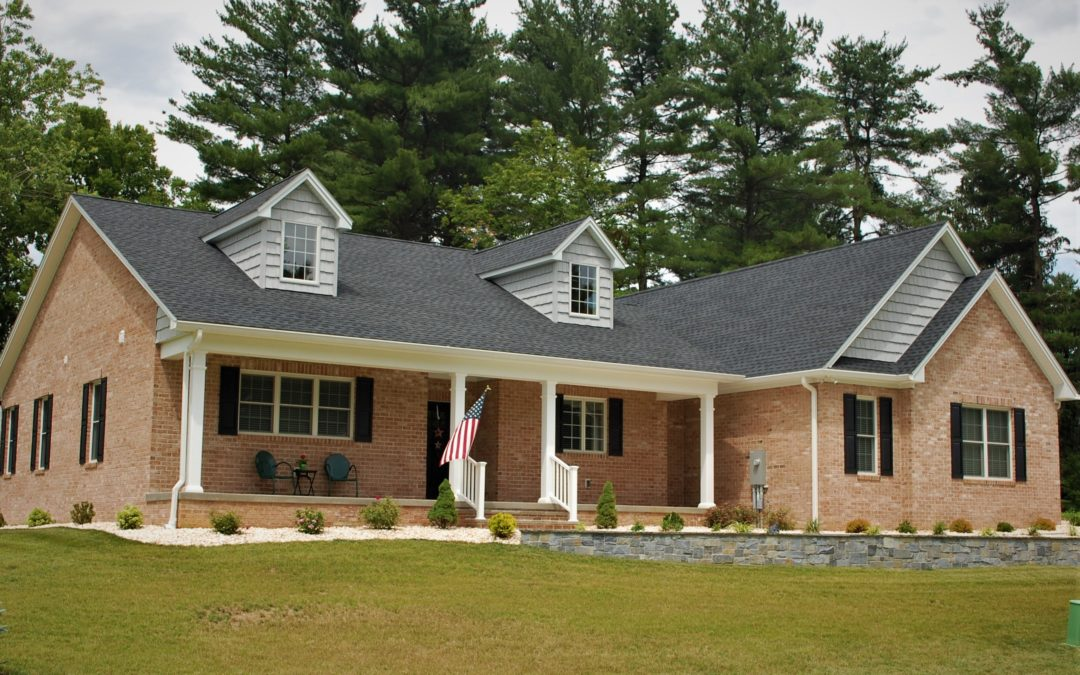 Custom-built, brick Cape Cod in Williamsport, MD, built by Mt. Tabor Builders of Clear Spring, MD