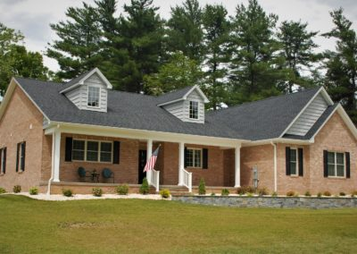 Custom-built, brick Cape Cod in Williamsport, MD, built by Mt. Tabor Builders