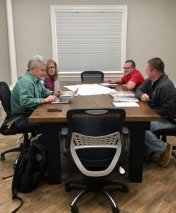 Clients meeting with Royce Eby and Willie Eby of Mt. Tabor Builders in Clear Spring, MD